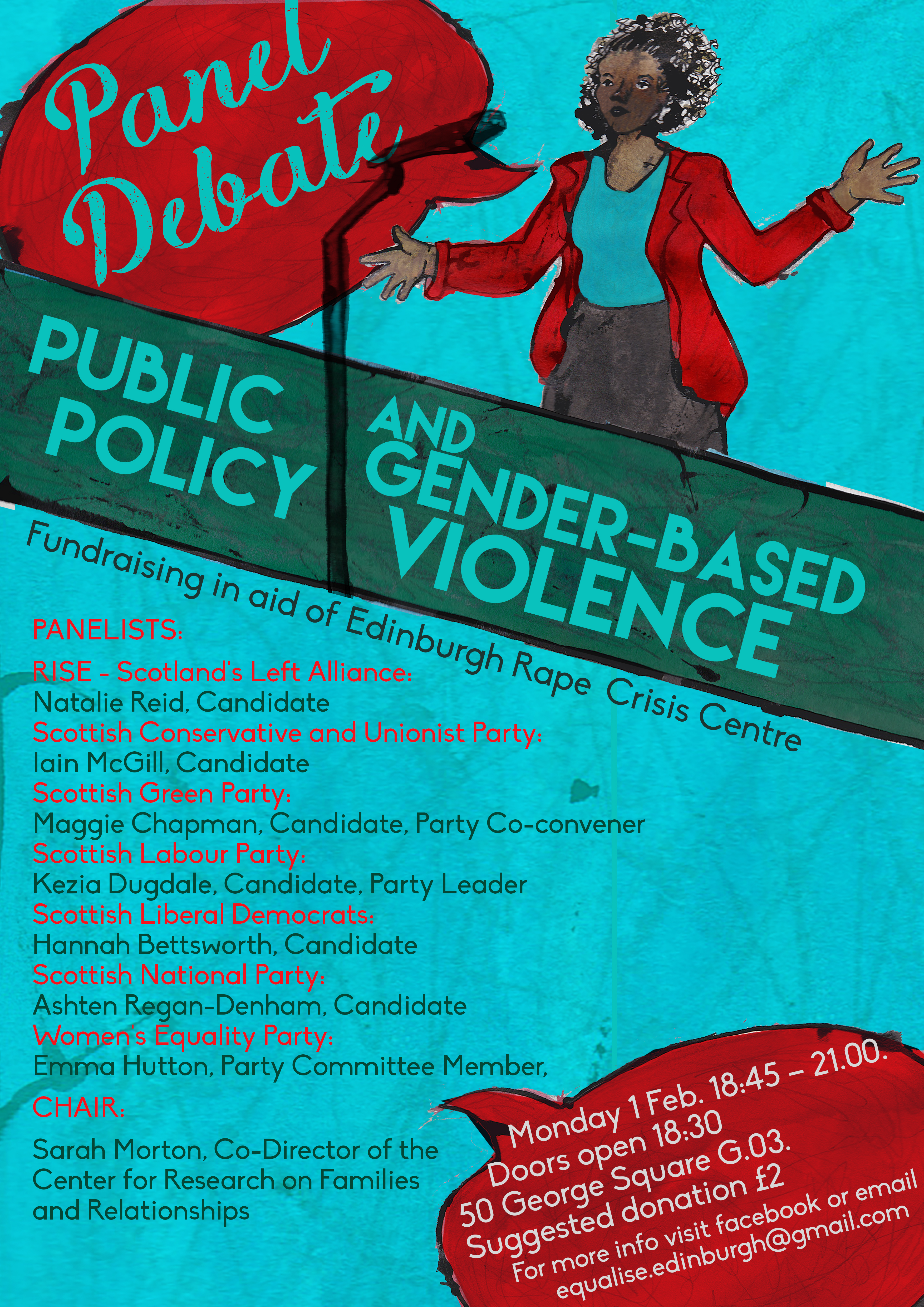 Equalise Panel Debate Poster