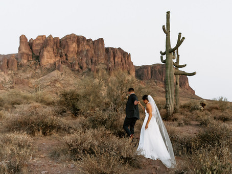 An Arizona Desert Elopement   Cody & Emily