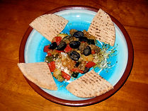Mediterranean Eggplant and pita bread