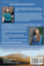 Back cover of my memoir, with befoe and after photos, and Katahdin at dawn