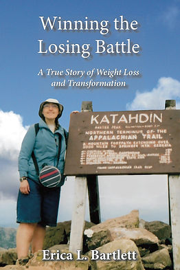 Cover of my memoir, with me at the summit of Mt. Katadhin