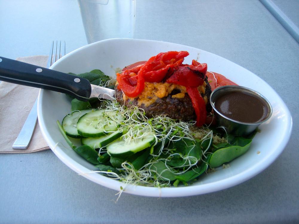 2-15-15 03burger salad at the Counter.jpg