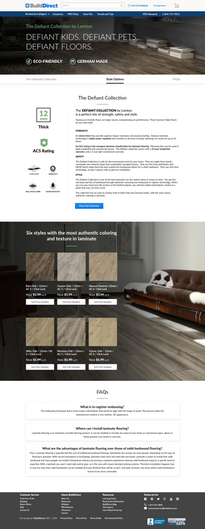Collection Landing Page