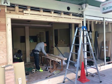 甲子園口 パン屋さんmarumeri bread様 店舗改装工事  完成までもう少しです!