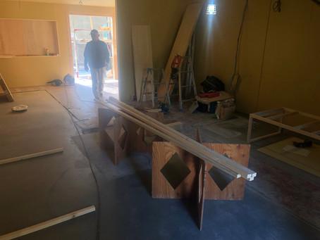 淡路島 パン屋さん 改装工事 内装できてきました。