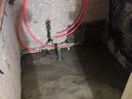 宝塚市 A様邸 浴室入れ替え工事 土間打ちまで完了しました!