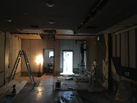淡路島 パン屋さん 店舗改装! 大工さん入りました!