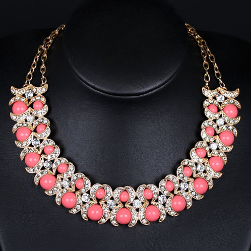 Coral Beaded Beauty Necklace