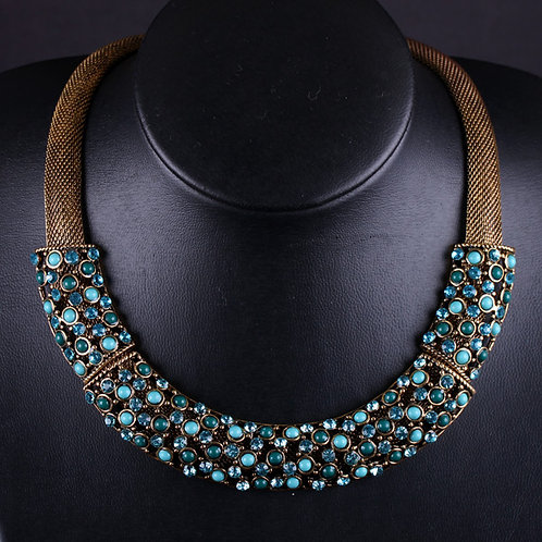 Antique Pearl Rhinestone Necklace