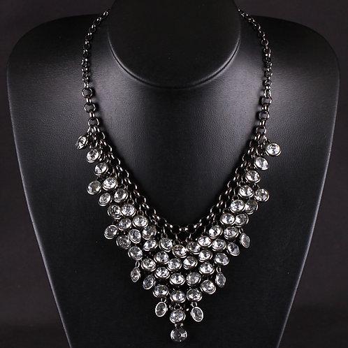Rhinestone Circles Necklace