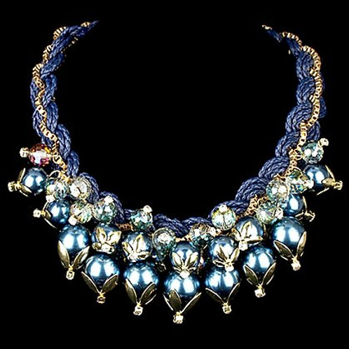 Chunky Blue Necklace