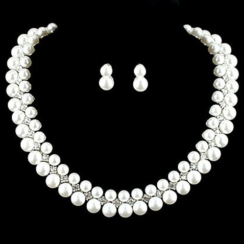 Glitter Pearl & Rhinestone Set