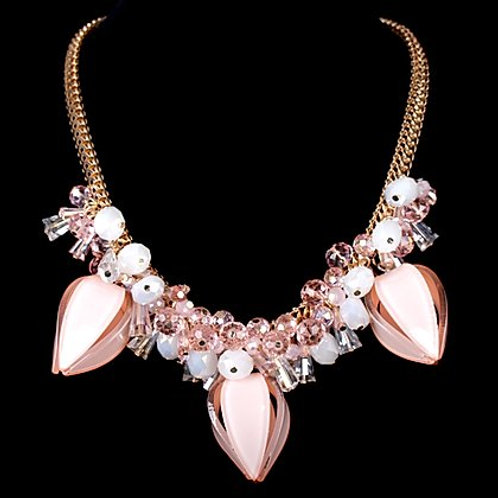 Pink Blooming Flower Necklace