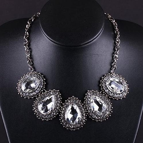 Crystal Teardrop Necklace