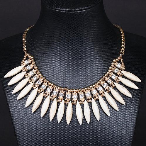 Cream Tribal Necklace