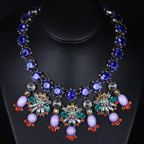 Multi-Coloured Rhinestone Necklace
