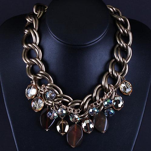 Metal & Crystal Necklace