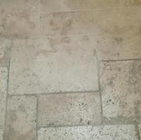 Demo clean patch on Limestone flooring