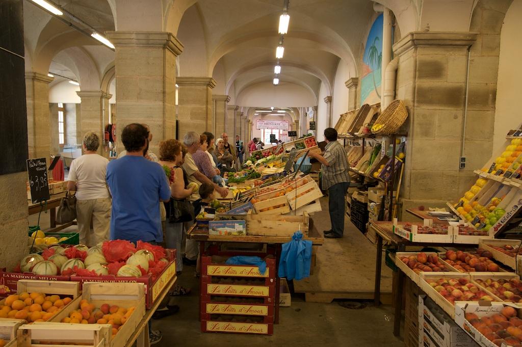 Overdekte markt in Autun