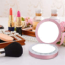 41SBNWg6W4L.jpg Portable Charger Mirror Compact Vanity Mirror with Lights for Personal Handheld Makeup