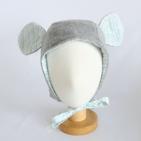 Fleece Mouse Grey Winter Bonnet