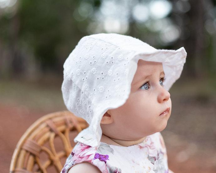 White Pattern Bucket Hat