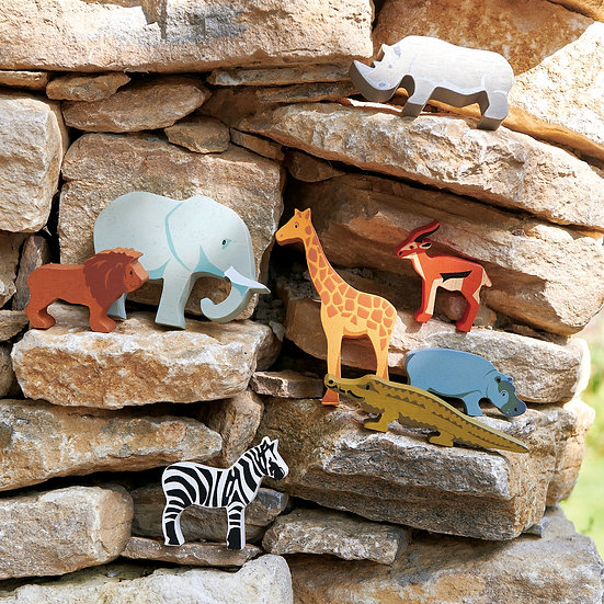 Safari Animal 8 Piece Set