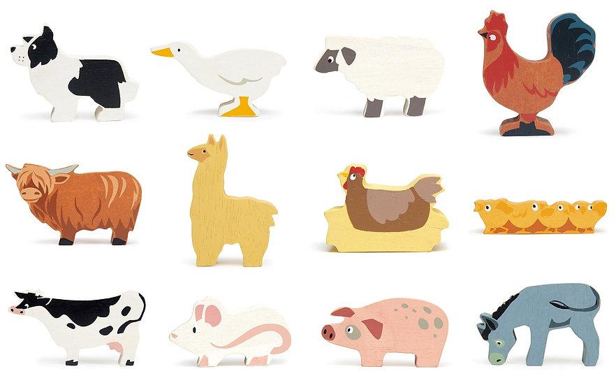 Farmyard Animals 12 Piece Set