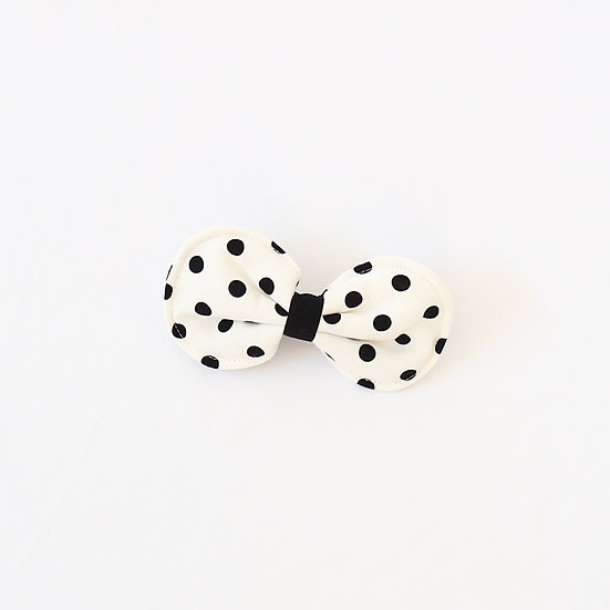Black Mini Dot Hair Clip