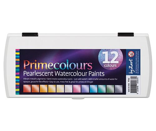 Primecolours Watercolours Pearlescent 12's