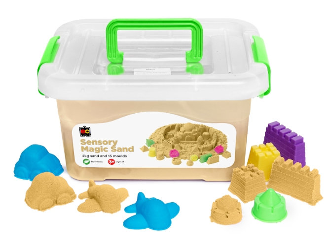 Sensory Magic Sand 2kg with Moulds Natural