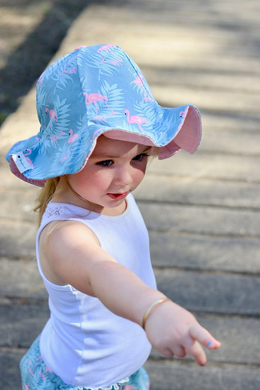 Flamingo Bucket Hat + Shorts