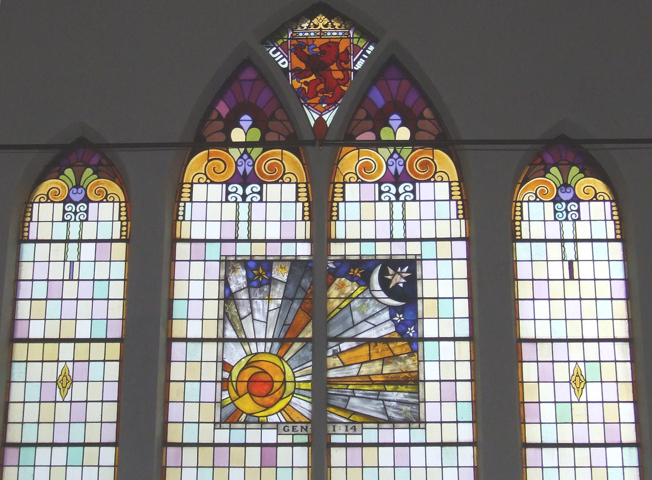 Opstandingskerk raam