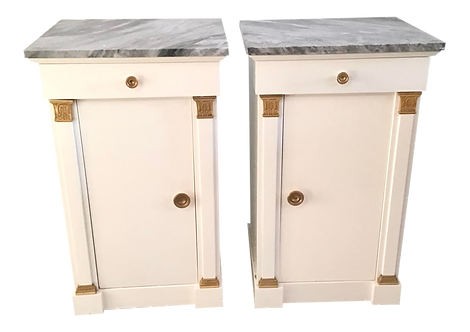 1940s French Jansen Nightstands - a Pair