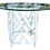 Thumbnail: Boho Chic Rattan White Lacquer Dining Table With Glass Top