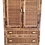 Thumbnail: Bielecky Brothers Large Rattan Armoire With Doors and Three Drawers for Storage