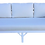 Thumbnail: Faux Bamboo Sofa Newly Lacquered White and New Todd Hase Upholstery