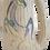 Thumbnail: Mid-Century Cream Pottery Vase With Horse