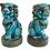 Thumbnail: Small Foo Dogs Turquoise Figurines - a Pair