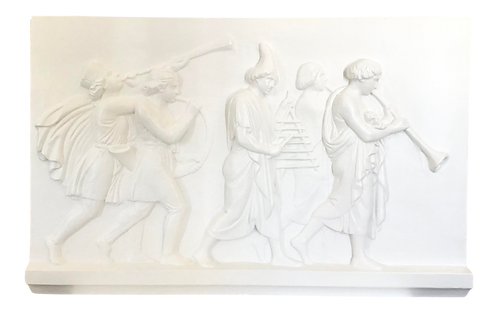 Vintage French Classical Plaster Frieze With Figures