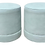 Thumbnail: Todd Hase Designed Ruth Drum Ottomans - a Pair