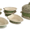 Thumbnail: Ceramic Seafood Clams Mussel Covered Bowl and Set of Six Small Dishes