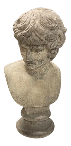 French Cast Stone Bust of David