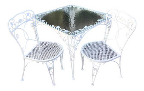 Salterini Patio Dining Table and Pair of Chairs - Set of 3