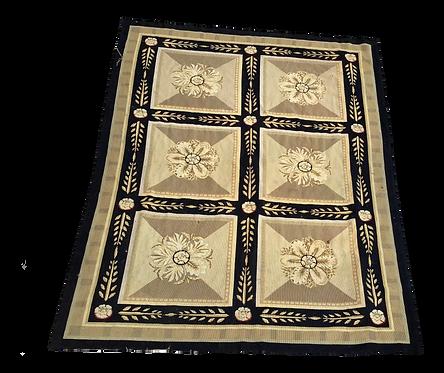 Henri Samuel Style French Aubusson Needlepoint Medallion Carpet