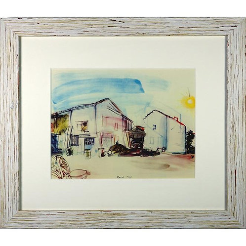 Framed 'Normandy Farm' Lithograph