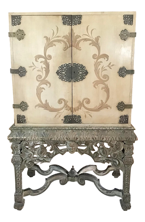 French Regency Style 2 Door Raised Cabinet