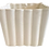 Thumbnail: Faux Bamboo White Ceramic Cachepot