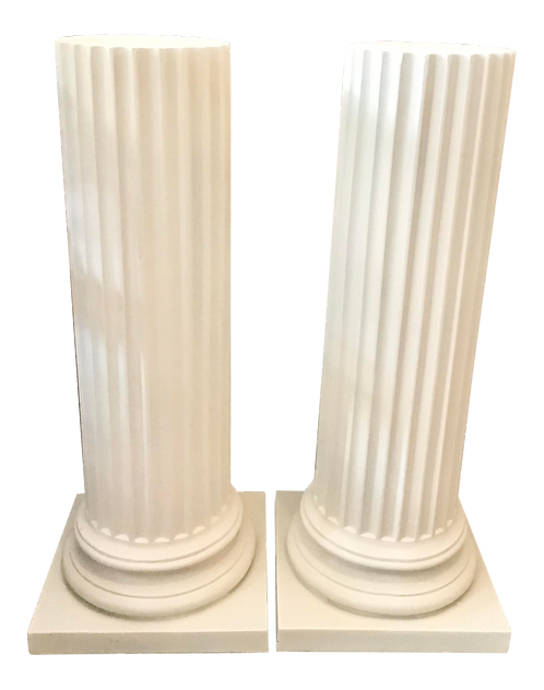 1950s Vintage French Tall Classical Pedestals - a Pair