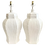 Thumbnail: Plaster Faux Rattan Ginger Jar Table Lamps - a Pair